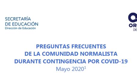 Preguntas frecuentes de la Comunidad Normalista por Contingencia COVID 2019