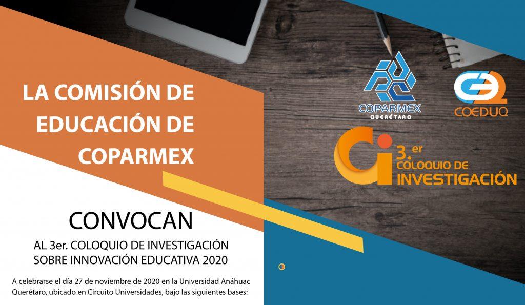 3er. COLOQUIO DE INVESTIGACIÓN SOBRE INNOVACIÓN EDUCATIVA 2020.